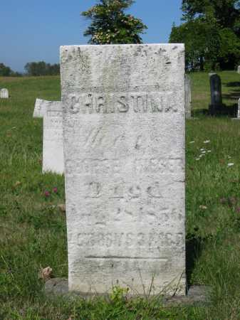 HIESER, CHRISTINA - Stark County, Ohio | CHRISTINA HIESER - Ohio Gravestone Photos