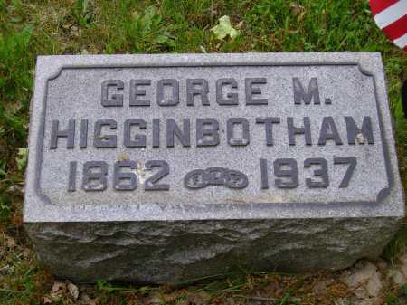 HIGGINBOTHAM, GEORGE M. - Stark County, Ohio | GEORGE M. HIGGINBOTHAM - Ohio Gravestone Photos