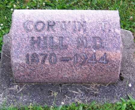 HILL, CORWIN T. (M.D.) - Stark County, Ohio | CORWIN T. (M.D.) HILL - Ohio Gravestone Photos