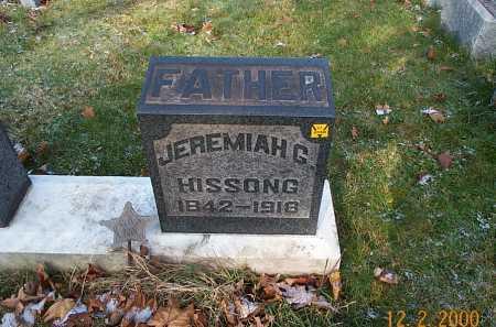 HISSONG, JEREMIAH GARDNER - Stark County, Ohio | JEREMIAH GARDNER HISSONG - Ohio Gravestone Photos