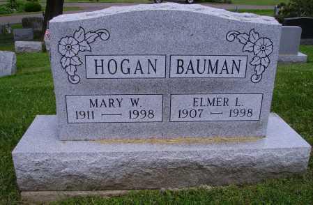 BAUMAN HOGAN, MARY WILMA - Stark County, Ohio | MARY WILMA BAUMAN HOGAN - Ohio Gravestone Photos