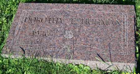 HOHMAN, DOROTHY E. - Stark County, Ohio | DOROTHY E. HOHMAN - Ohio Gravestone Photos