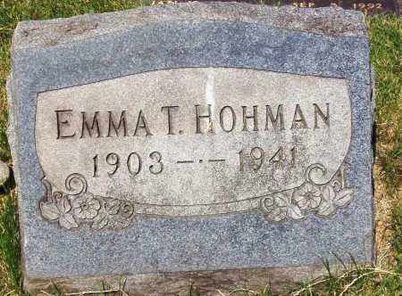 SCHAFER HOHMAN, EMMA T. - Stark County, Ohio | EMMA T. SCHAFER HOHMAN - Ohio Gravestone Photos