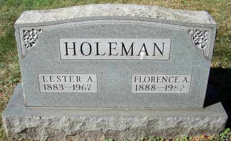 HOLEMAN, FLORENCE A. - Stark County, Ohio | FLORENCE A. HOLEMAN - Ohio Gravestone Photos