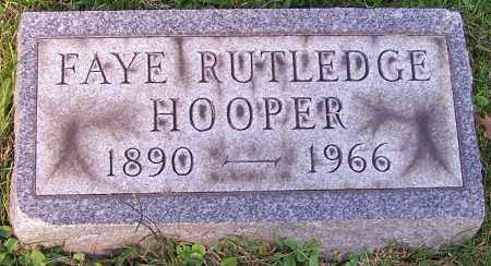 HOOPER, FAYE RUTLEDGE - Stark County, Ohio | FAYE RUTLEDGE HOOPER - Ohio Gravestone Photos
