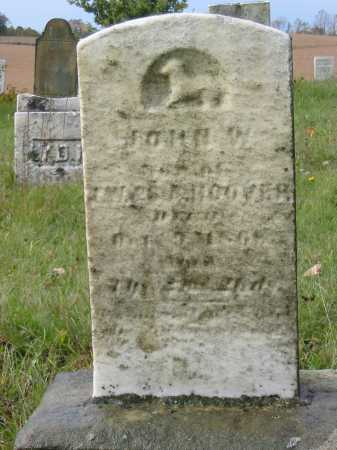 HOOVER, JOHN W - Stark County, Ohio | JOHN W HOOVER - Ohio Gravestone Photos