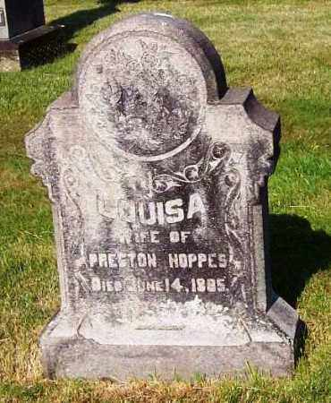 HOPPES, LOUISA - Stark County, Ohio | LOUISA HOPPES - Ohio Gravestone Photos