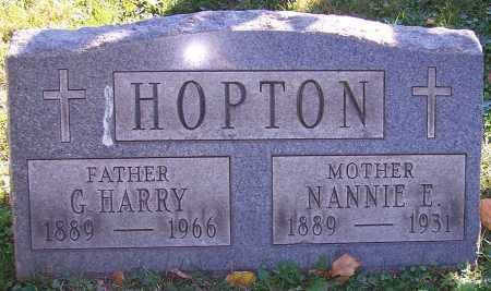 HOPTON, NANNIE E. - Stark County, Ohio | NANNIE E. HOPTON - Ohio Gravestone Photos