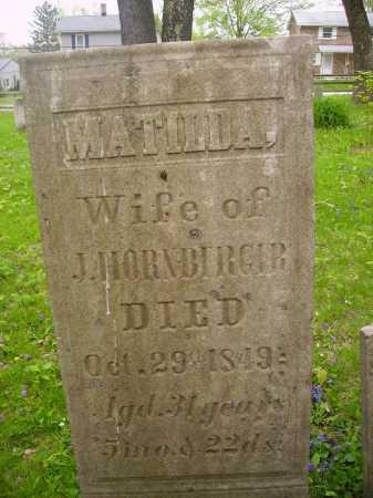 WEYGANT HORNBERGER, MATILDA - Stark County, Ohio | MATILDA WEYGANT HORNBERGER - Ohio Gravestone Photos