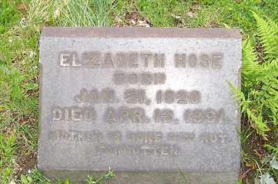 HOSE, ELIZABETH - Stark County, Ohio | ELIZABETH HOSE - Ohio Gravestone Photos
