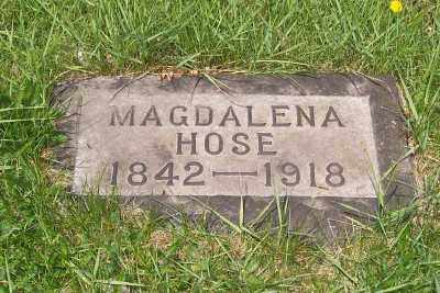 HOSE, MAGDALENA - Stark County, Ohio | MAGDALENA HOSE - Ohio Gravestone Photos