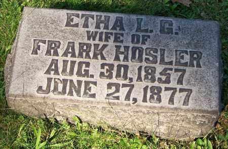 HOSLER, ETHA L.G. - Stark County, Ohio | ETHA L.G. HOSLER - Ohio Gravestone Photos