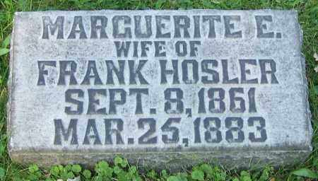 HOSLER, MARGUERITE E. - Stark County, Ohio | MARGUERITE E. HOSLER - Ohio Gravestone Photos