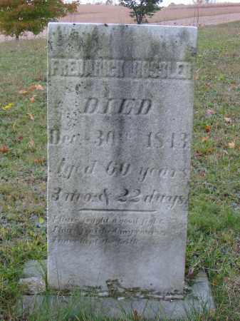 HOSSLER, FREDARICK - Stark County, Ohio | FREDARICK HOSSLER - Ohio Gravestone Photos