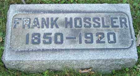 HOSSLER, FRANK - Stark County, Ohio | FRANK HOSSLER - Ohio Gravestone Photos