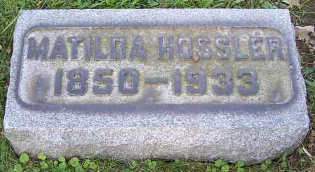 HOSSLER, MATILDA - Stark County, Ohio | MATILDA HOSSLER - Ohio Gravestone Photos