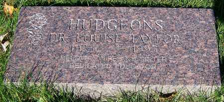 HUDGEONS, DR. LOUISE TAYLOR - Stark County, Ohio | DR. LOUISE TAYLOR HUDGEONS - Ohio Gravestone Photos