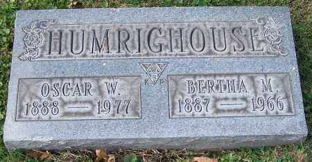 HUMRIGHOUSE, OSCAR W. - Stark County, Ohio | OSCAR W. HUMRIGHOUSE - Ohio Gravestone Photos