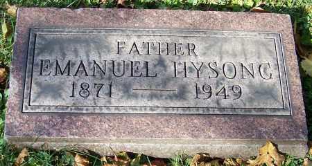 HYSONG, EMANUEL - Stark County, Ohio | EMANUEL HYSONG - Ohio Gravestone Photos