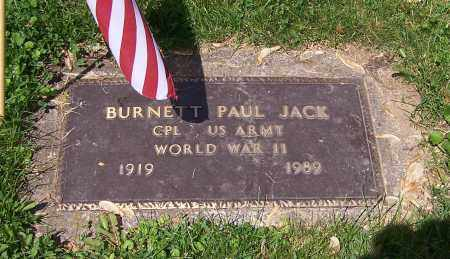 JACK, BURNETT PAUL - Stark County, Ohio | BURNETT PAUL JACK - Ohio Gravestone Photos