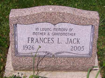 JACK, FRANCES L. - Stark County, Ohio | FRANCES L. JACK - Ohio Gravestone Photos