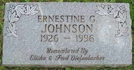 JOHNSON, ERNESTINE G. - Stark County, Ohio | ERNESTINE G. JOHNSON - Ohio Gravestone Photos