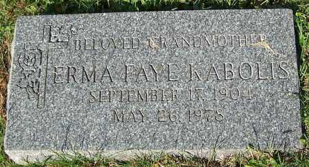 KABOLIS, ERMAN FAYE - Stark County, Ohio   ERMAN FAYE KABOLIS - Ohio Gravestone Photos