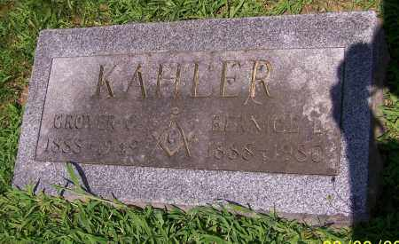 KAHLER, GROVER C. - Stark County, Ohio | GROVER C. KAHLER - Ohio Gravestone Photos