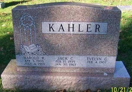 KAHLER, HAROLD R. - Stark County, Ohio | HAROLD R. KAHLER - Ohio Gravestone Photos