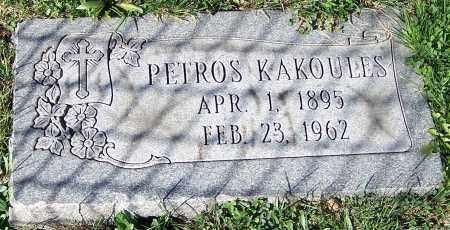 KAKOULES, PETROS - Stark County, Ohio | PETROS KAKOULES - Ohio Gravestone Photos