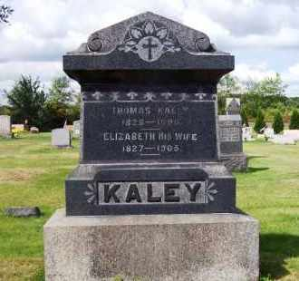 KALEY, ELIZABETH - Stark County, Ohio | ELIZABETH KALEY - Ohio Gravestone Photos