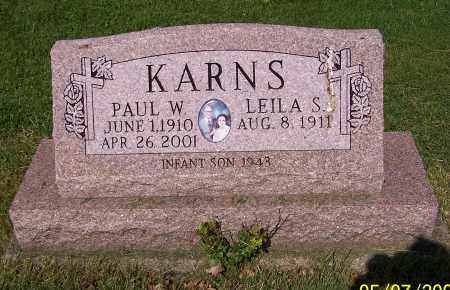 KARNS, PAUL W. - Stark County, Ohio | PAUL W. KARNS - Ohio Gravestone Photos