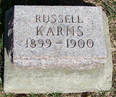 KARNS, RUSSELL - Stark County, Ohio | RUSSELL KARNS - Ohio Gravestone Photos