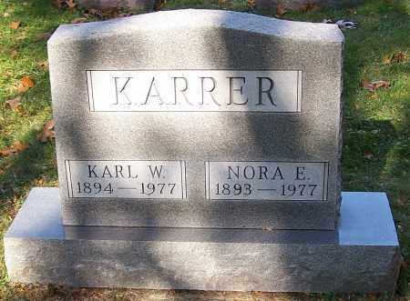 KARRER, NORA E. - Stark County, Ohio | NORA E. KARRER - Ohio Gravestone Photos
