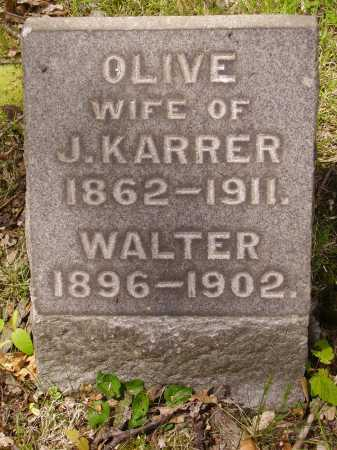 KARRER, OLIVE - Stark County, Ohio | OLIVE KARRER - Ohio Gravestone Photos