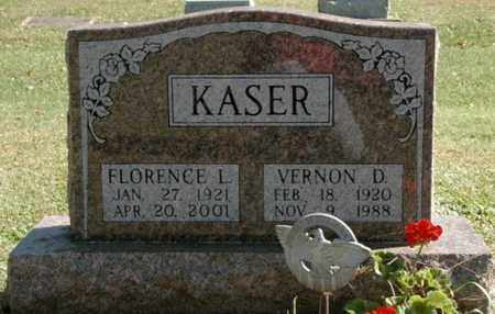 VERNON KASER, FLORENCE L. - Stark County, Ohio | FLORENCE L. VERNON KASER - Ohio Gravestone Photos