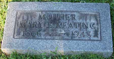 KEATING, MARY E. - Stark County, Ohio | MARY E. KEATING - Ohio Gravestone Photos