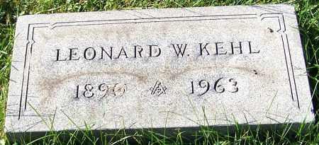 KEHL, LEONARD W. - Stark County, Ohio | LEONARD W. KEHL - Ohio Gravestone Photos