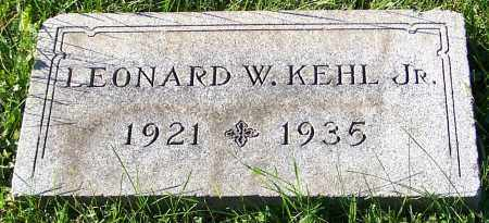 KEHL, LEONARD W. (JR) - Stark County, Ohio | LEONARD W. (JR) KEHL - Ohio Gravestone Photos