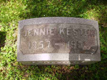 REICHART KESTER, JENNIE - Stark County, Ohio | JENNIE REICHART KESTER - Ohio Gravestone Photos
