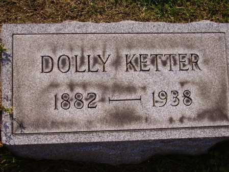 KETTER, DOLLY - Stark County, Ohio   DOLLY KETTER - Ohio Gravestone Photos