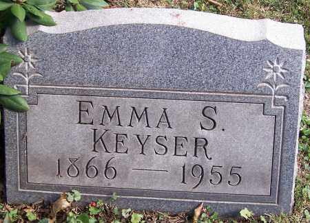 KEYSER, EMMA S. - Stark County, Ohio | EMMA S. KEYSER - Ohio Gravestone Photos