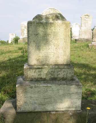 KEYSER, WILLIAM - Stark County, Ohio | WILLIAM KEYSER - Ohio Gravestone Photos