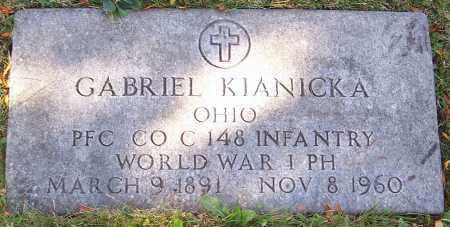 KIANICKA, GABRIEL - Stark County, Ohio | GABRIEL KIANICKA - Ohio Gravestone Photos