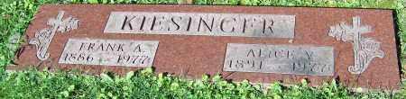 KIESINGER, FRANK A. - Stark County, Ohio | FRANK A. KIESINGER - Ohio Gravestone Photos