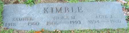 KIMBLE, ACIE J. - Stark County, Ohio | ACIE J. KIMBLE - Ohio Gravestone Photos