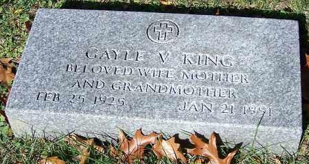 KING, GAYLE V. - Stark County, Ohio | GAYLE V. KING - Ohio Gravestone Photos