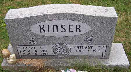 KINSER, KATHRYN M. - Stark County, Ohio | KATHRYN M. KINSER - Ohio Gravestone Photos