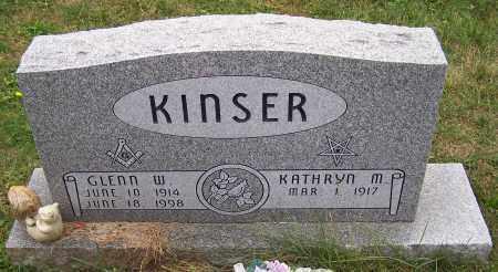 KINSER, GLENN W. - Stark County, Ohio | GLENN W. KINSER - Ohio Gravestone Photos