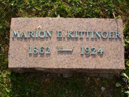KITTINGER, MARION E. - Stark County, Ohio | MARION E. KITTINGER - Ohio Gravestone Photos
